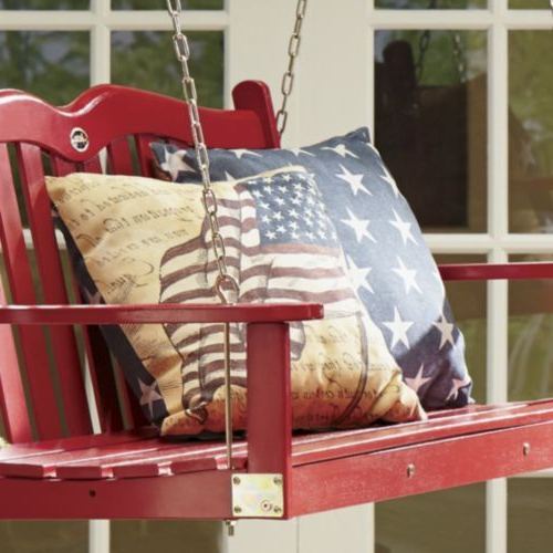 Latest Freedom Flag Indoor/outdoor Pillow From Through The Country With Regard To American Flag Porch Swings (View 15 of 20)
