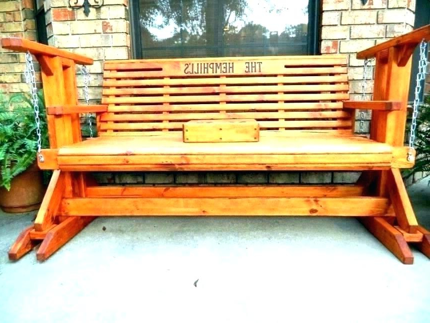 Latest Hardwood Porch Glider Benches Regarding Benches Garden Bench Glider Outdoor Composite Chairs Chair (View 9 of 20)
