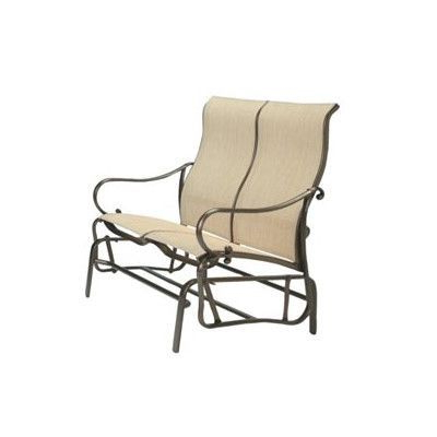 Latest Padded Sling Double Gliders With Regard To Tropitone Radiance Sling Double Glider Chair Fabric (Gallery 14 of 20)