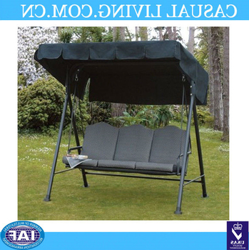 Latest Patio 3 Seat Outdoor Polyester Canopy Porch Swing Sets Hammock With Steel Frame And Adjustable Canopy – Buy Outdoor Swing Sets,outdoor Swing Sets With Canopy Patio Porch Swing With Stand (View 17 of 20)