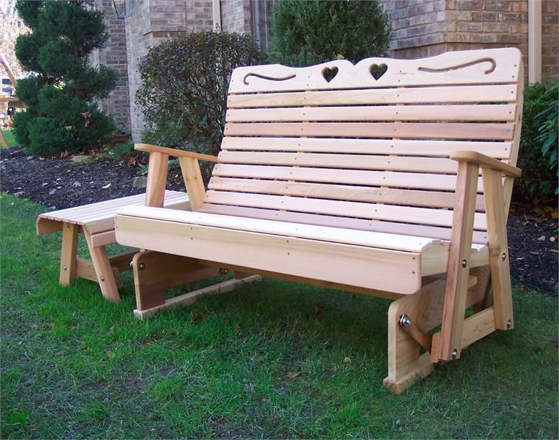 Latest Rocking Glider Benches In Cedar Country Hearts Rocking Glider , Glider Bench, Cedar (View 3 of 20)