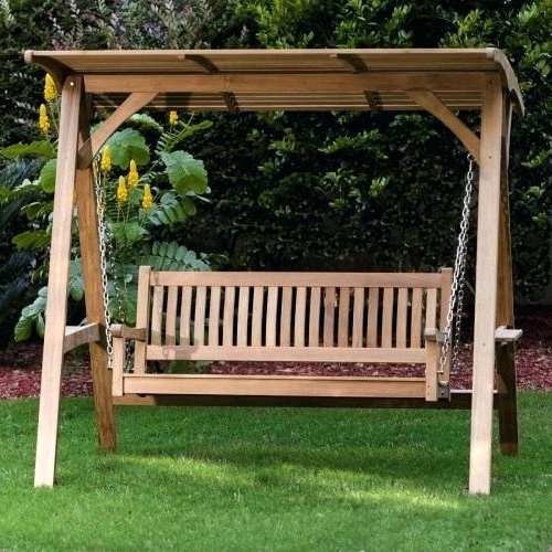 Latest Teak Porch Swings Throughout Outdoor Swing Bench With Canopy – Wildatheartfoods (View 19 of 20)