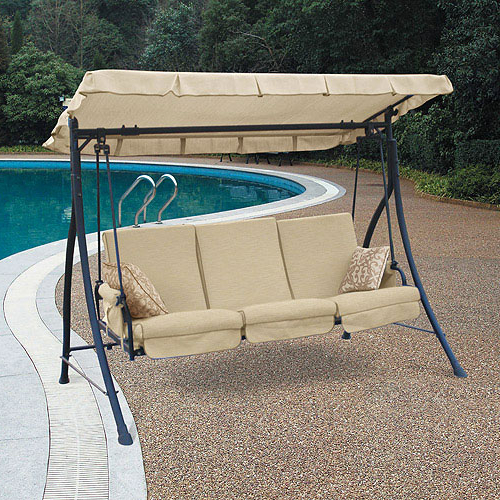Latest Walmart Harvey 3 Seater Hammock Swing Replacement Canopy In 3 Seater Swings With Frame And Canopy (View 17 of 20)