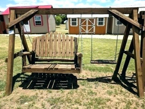 Log Swing Set – Alicemoreau Creations Pertaining To Favorite 2 Person Natural Cedar Wood Outdoor Swings (View 10 of 20)