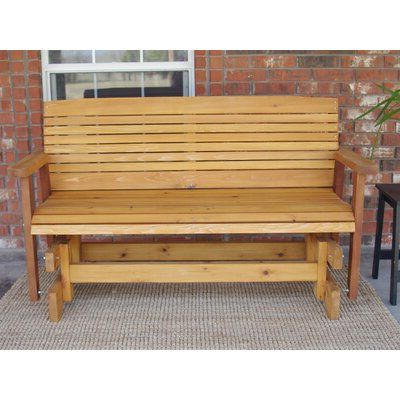 Featured Photo of Cedar Colonial Style Glider Benches