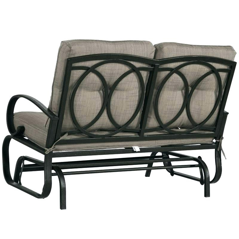 Loveseat Glider Benches With Cushions Pertaining To Widely Used Wrought Iron Loveseat – Zahnersatz (View 12 of 20)