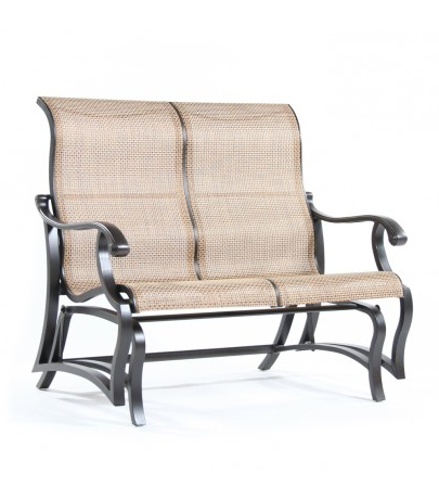 Mallin Within Padded Sling Double Glider Benches (View 16 of 20)