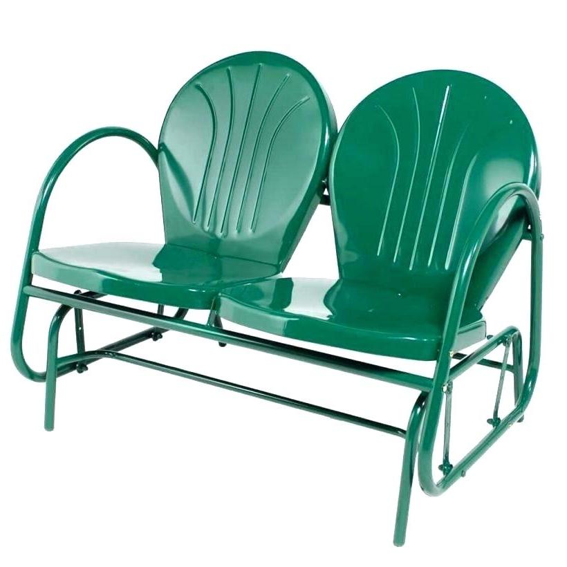 Metal Retro Glider Benches For 2019 Garden Glider Chair – Ecalendar (Gallery 13 of 20)