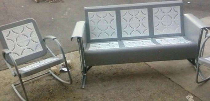 Metal Retro Glider Benches Pertaining To Most Up To Date Metal Glider Patio Furniture – Salud (View 9 of 20)