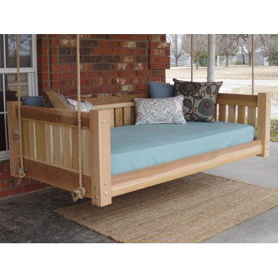 Millwood Pines Lomba Hanging Daybed Rope Porch Swing Pertaining To 2019 Hanging Daybed Rope Porch Swings (View 11 of 20)