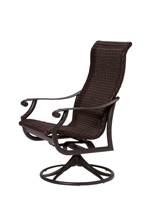 Montreux Woven Swivel Rocker High Back – Hauser's Patio Pertaining To Newest Woven High Back Swivel Chairs (Gallery 6 of 20)