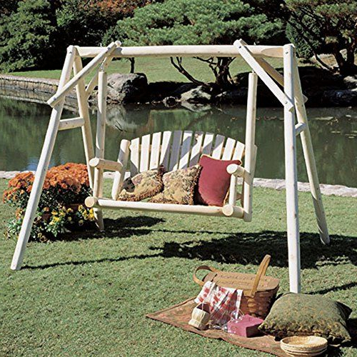 Most Current 2 Person Natural Cedar Wood Outdoor Swings In Rustic Natural Cedar Furniture American Garden 5 Ft Log (Gallery 12 of 20)