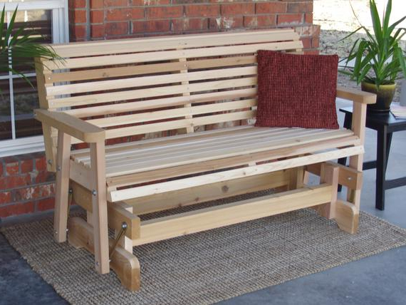 Most Current Cedar Colonial Style Glider Benches Inside Brand New 6 Foot Cedar Wood Classic Outdoor Glider – Free (View 5 of 20)