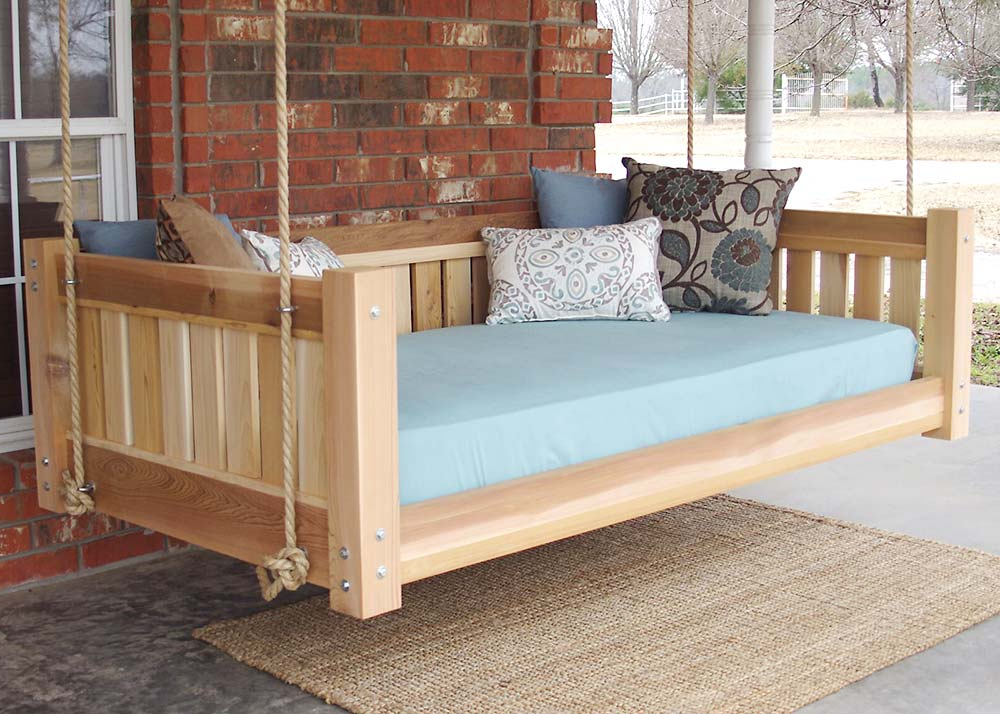 Most Current Hanging Daybed Rope Porch Swings Within Diy Outdoor Hanging & Swing Beds For Your Porch & Garden (View 10 of 20)