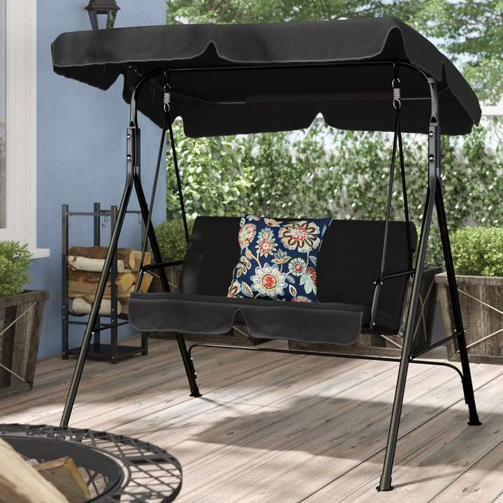 Featured Photo of Patio Loveseat Canopy Hammock Porch Swings With Stand