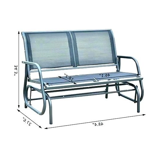 Most Current Outdoor Metal Rocker – Utahcorporateresponsibility Pertaining To Double Glider Benches With Cushion (View 20 of 20)
