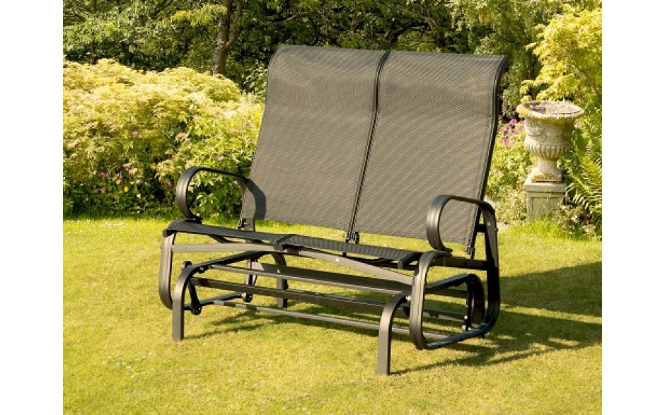 Most Current Twin Seat Glider Benches Pertaining To Havana Twin Seat Glider – Black – Garden Furniture – For (View 19 of 20)