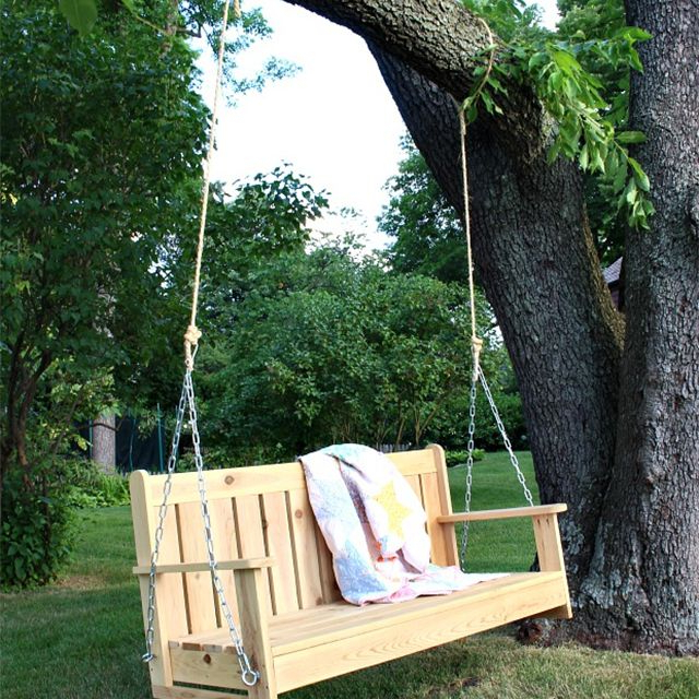 Most Popular 12 Free Porch Swing Plans To Build At Home Pertaining To A4 Ft Cedar Pergola Swings (View 10 of 20)