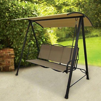 Most Popular 2 Person Outdoor Canopy Porch Swing Iron Durable Adjustable For Canopy Porch Swings (View 19 of 20)