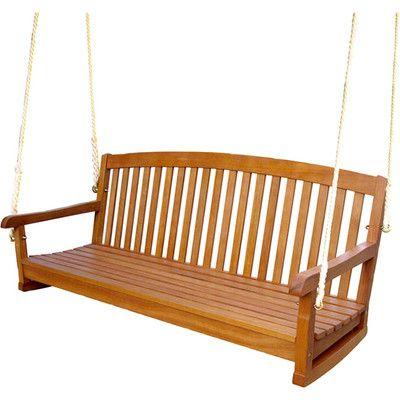 Most Popular Beachcrest Home Portland Teak Porch Swing (View 7 of 20)