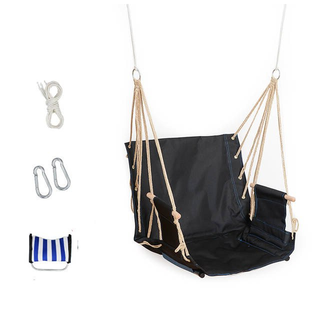 Most Popular Cotton Porch Swings Regarding Single Garden Balcony Porch School Dormitory Cotton Rope Oxford Swing Chair  Leisure Hammock Outdoor Portable Assembly Swings (Gallery 8 of 20)