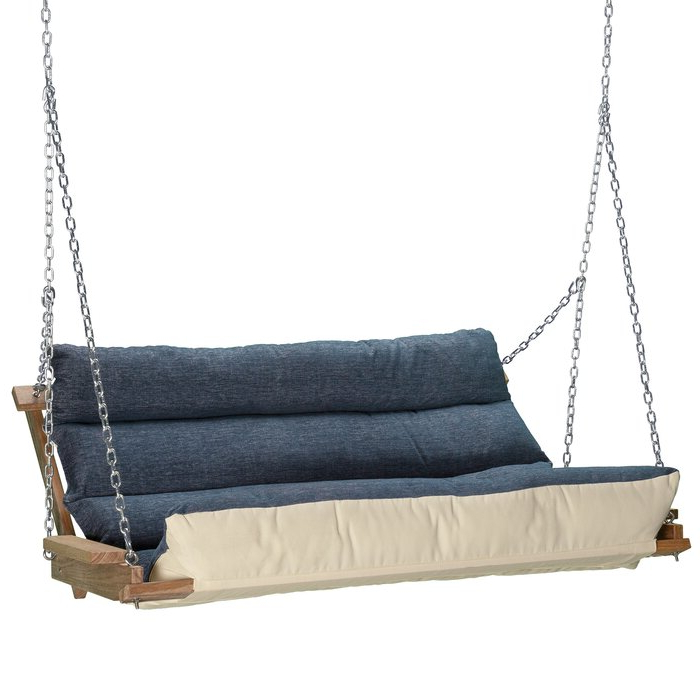 Most Popular Deluxe Cushion Sunbrella Porch Swings With Regard To Carr Deluxe Cushion Porch Swing (Gallery 4 of 20)