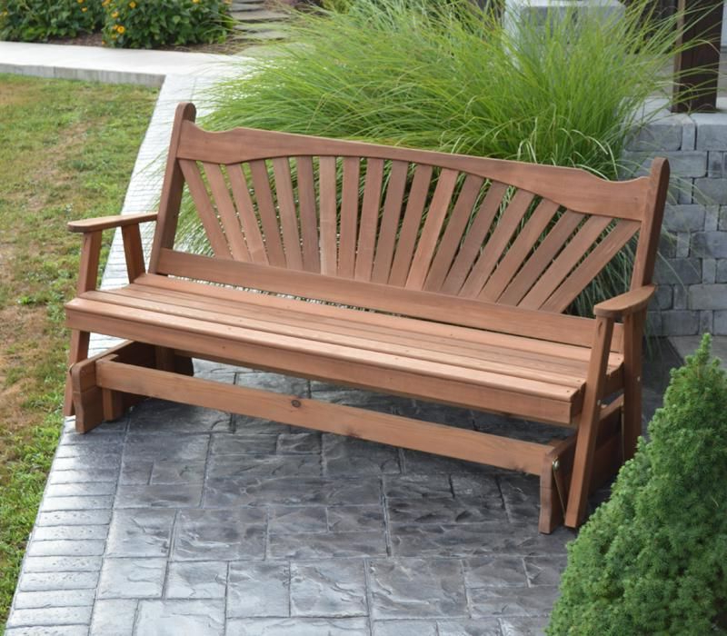 Most Popular Fanback Glider Bench (Gallery 2 of 21)