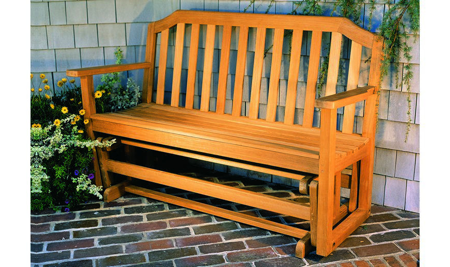 Most Popular Garden Bench / Traditional / Wooden / With Backrest – Glider With Teak Glider Benches (View 14 of 20)