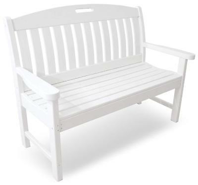 Most Popular Poly Wood Ns48bl Nautical 48 Inch Swing Patio Furniture Intended For Nautical Porch Swings (View 16 of 20)