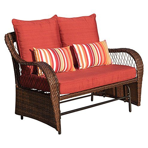 Featured Photo of 2 Person Loveseat Chair Patio Porch Swings With Rocker
