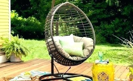 Most Popular Wicker Swing Chair With Stand Outdoor Hanging Indoor With Outdoor Wicker Plastic Tear Porch Swings With Stand (Gallery 15 of 20)