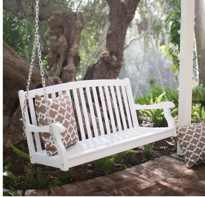 Most Recent 2 Person White Wood Outdoor Swings For 4 Ft Porch Swing 2 Person Bench White Wood Slat Back (Gallery 1 of 20)