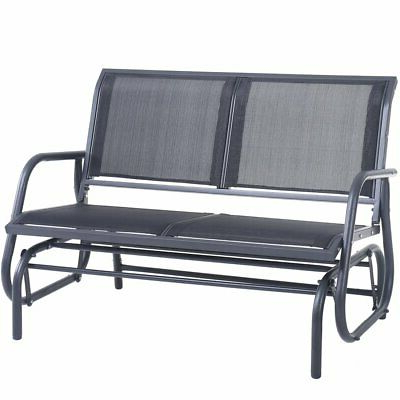 Most Recent Outdoor Patio Swing Glider Bench Chair S Inside Outdoor Swing Glider Chair, Patio Lawn Bench For 2 Person (View 12 of 20)