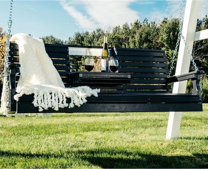 Most Recent Plain Porch Swings Within Luxcraft Rollback 5ft Recycled Plastic Plain Porch Swing With Flip Down Center Console (View 6 of 20)
