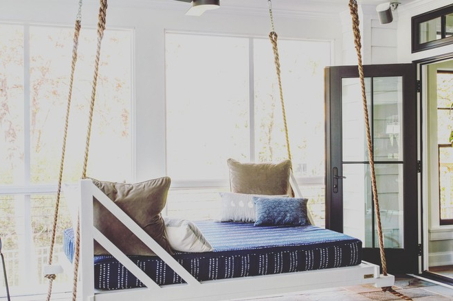 Most Recent Porch Swings To Sway The Summer Away – Wsj Pertaining To Porch Swings (View 7 of 20)