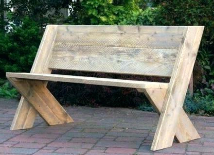 Most Recent Rustic Garden Bench – Hammerstad Within Wood Garden Benches (View 4 of 20)
