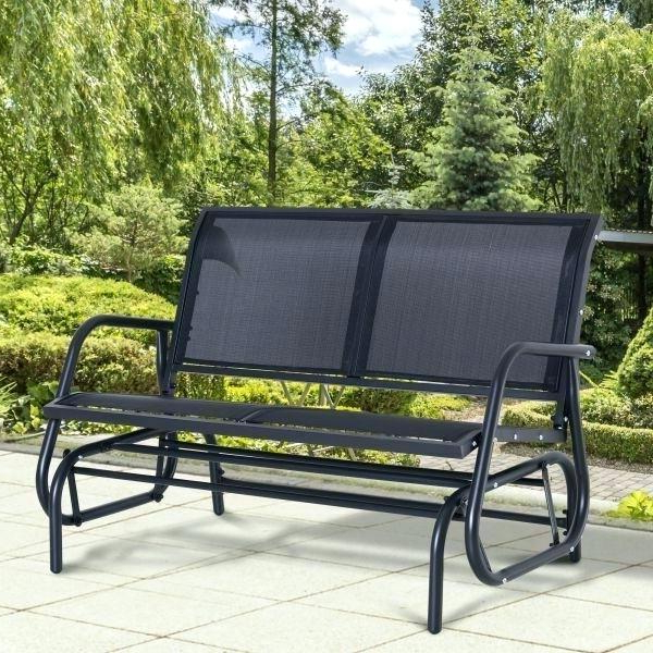 Most Recent Sling Double Glider Benches Throughout Outdoor Double Glider – Techvay (Gallery 13 of 20)
