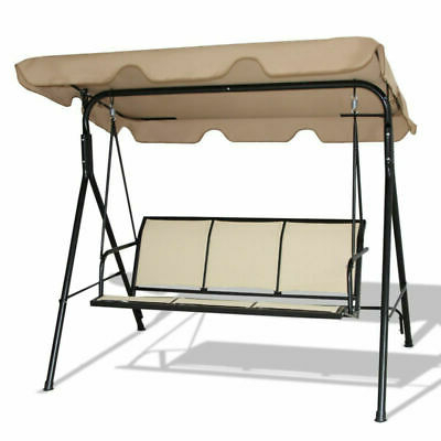 Most Recently Released 2 Person Adjustable Tilt Canopy Patio Loveseat Porch Swings Within Outdoor Patio 2 Person Porch Swing With Adjustable Tilt (Gallery 12 of 20)
