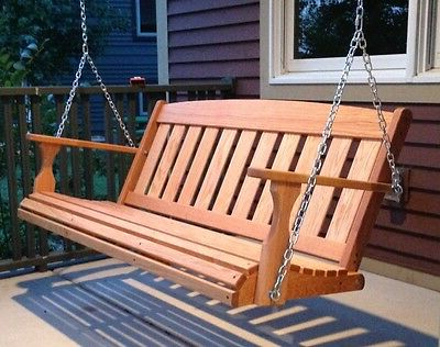 Most Recently Released 5 Ft Cedar Swings With Springs For Mission Hourglass/diamond Back Contoured Seat Outdoor (View 13 of 20)