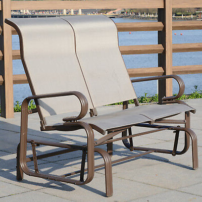 Most Recently Released Aluminum Outdoor Double Glider Benches In Ivy Bronx Maryanne Folding Resin Wicker Patio Chair Set Of (View 16 of 20)