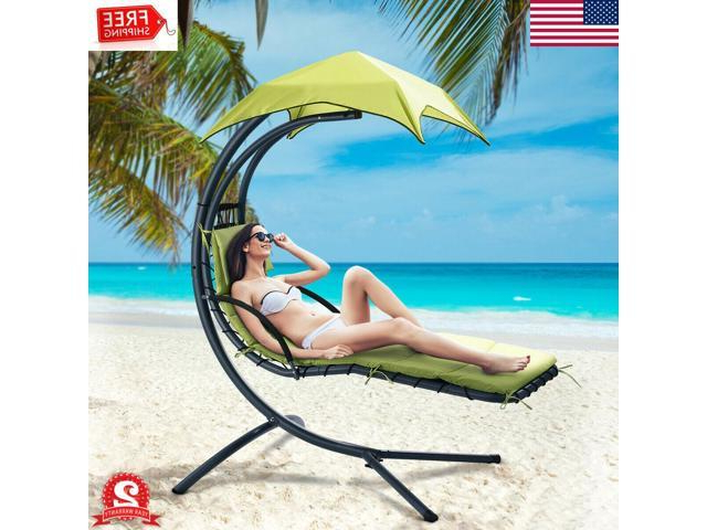 Most Recently Released Hanging Chaise Lounge Chair Hammock Swing Canopy Patio Beach Within Garden Leisure Outdoor Hammock Patio Canopy Rocking Chairs (View 11 of 20)
