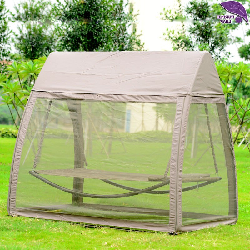 Most Recently Released Purpleleaf Patio Leisure Garden Swing Chair Outdoor Sleeping For Garden Leisure Outdoor Hammock Patio Canopy Rocking Chairs (View 4 of 20)