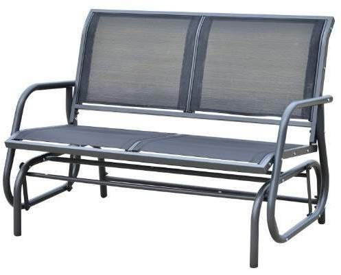 Most Recently Released Red Barrel Studio Callen 49 Outdoor Patio Swing Glider Bench In Outdoor Patio Swing Glider Benches (View 2 of 20)