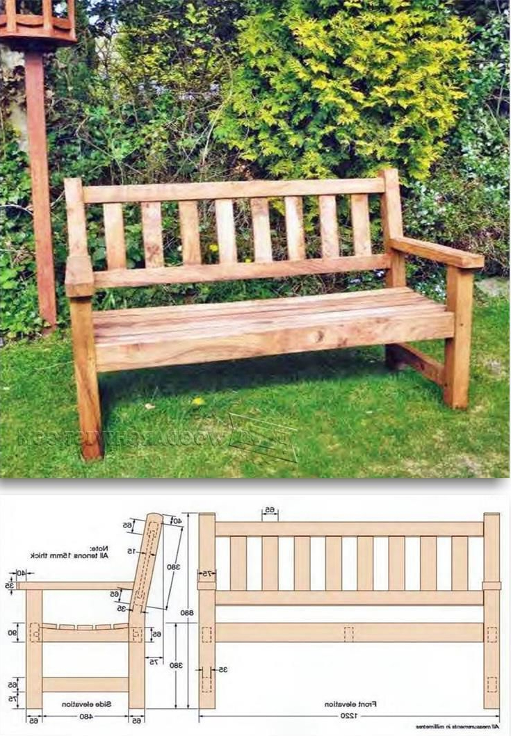 Most Recently Released Wood Garden Benches In Build Garden Bench – Outdoor Furniture Plans And Projects (Gallery 10 of 20)