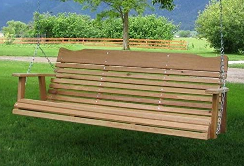 Most Up To Date 5 Natural Cedar Porch Swing Amish Crafted Review Inside 2 Person Natural Cedar Wood Outdoor Swings (Gallery 16 of 20)