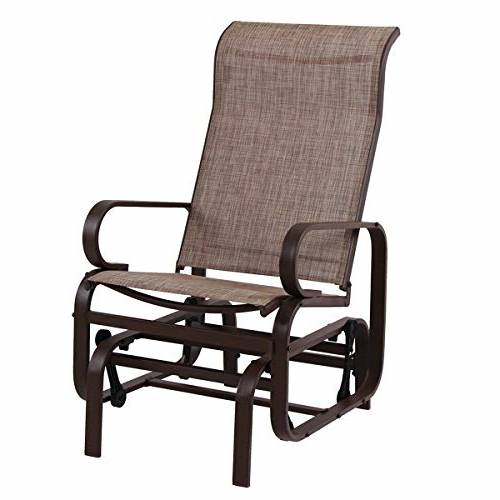 Most Up To Date Outdoor Patio Swing Glider Bench Chair S With Gliders Phi Villa Patio Swing Glider Bench For 2 Persons (View 18 of 20)