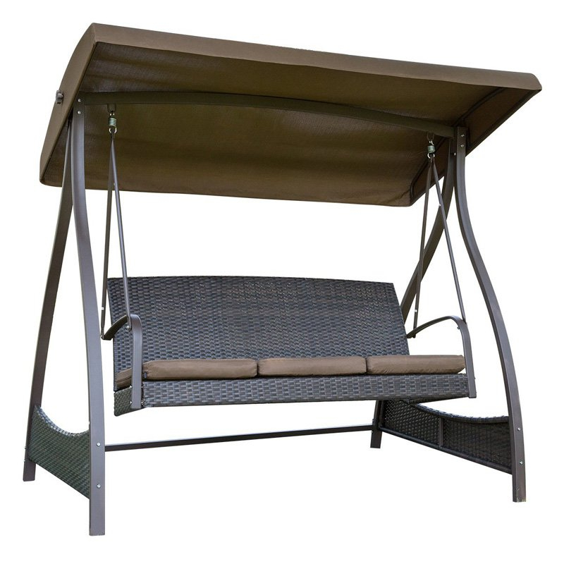 Most Up To Date Sunlife 3 Seat Porch Swing With Arc Stand And Canopy (View 14 of 20)