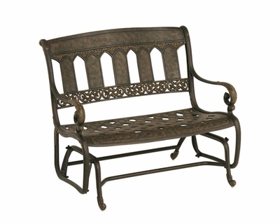 Most Up To Date The Tuscana Collection Commercial Cast Aluminum Double Glider For Aluminum Outdoor Double Glider Benches (View 10 of 20)