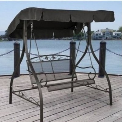 Most Up To Date Top 10 Best Patio Swings With Canopies – Closeup Check Regarding Wicker Glider Outdoor Porch Swings With Stand (View 17 of 20)