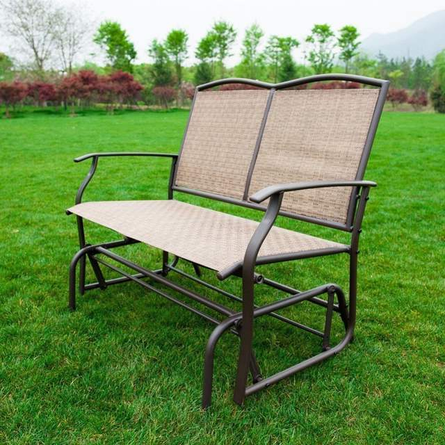 Naturefun Patio Swing Glider Bench Chair Garden Glider In Best And Newest Outdoor Patio Swing Glider Benches (View 17 of 20)